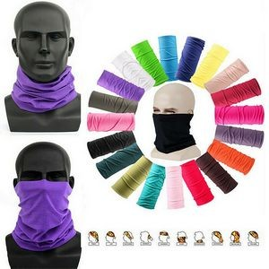 Full Color Dye Sublimated Multifunctional Washable Neck Gaiter